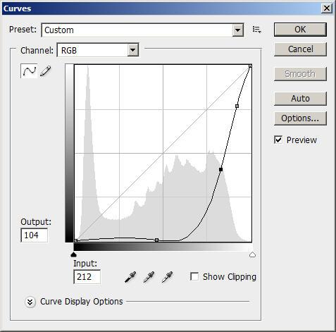 Photoshop Curve tool