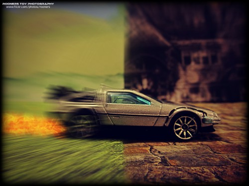 """For constant time compression we disable future back-references. """"Back to the Future"""" by """"Rooners Toy Photography""""."""